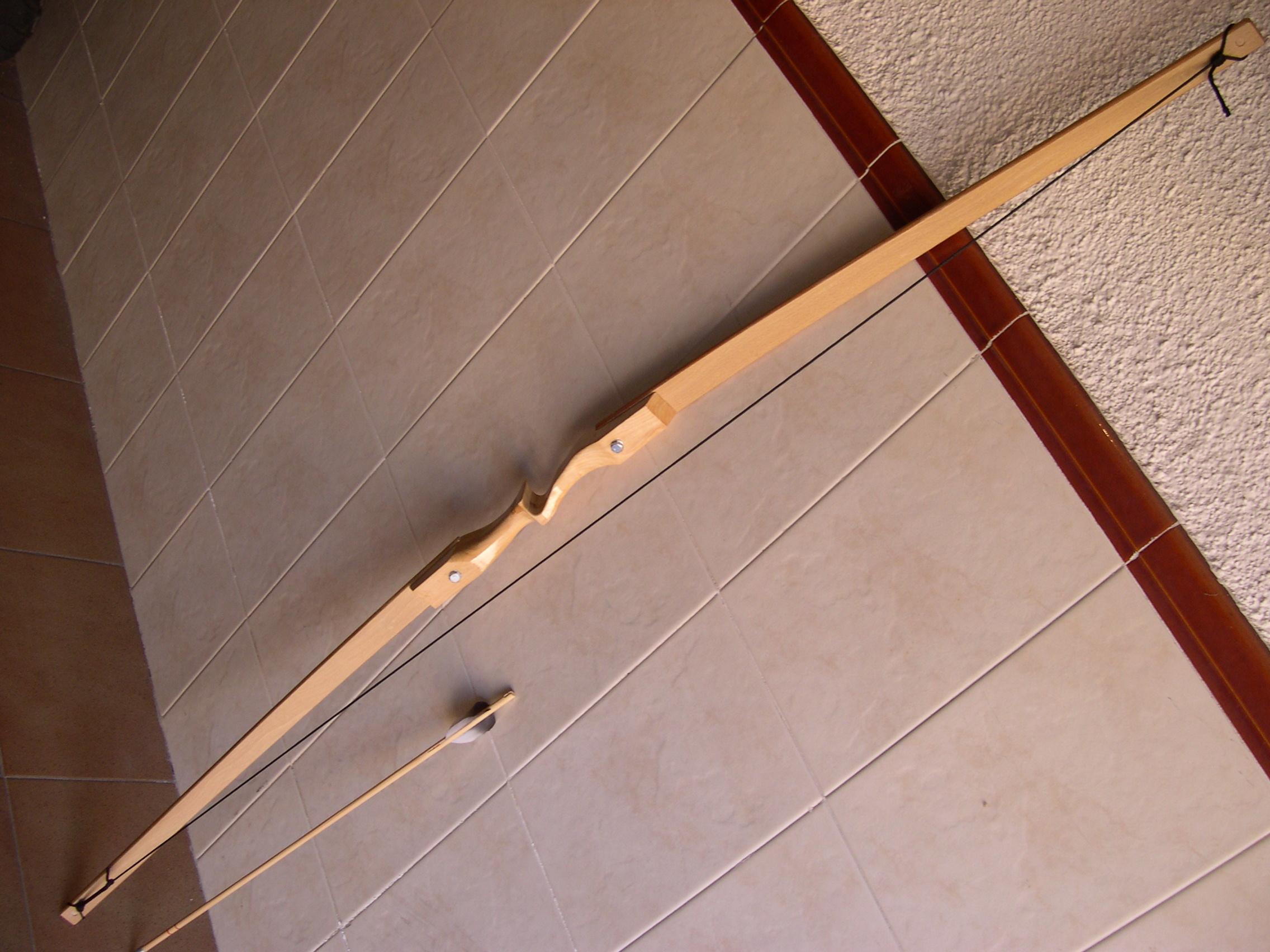 Arco casero con palas de somier - Maderas para arcos ...